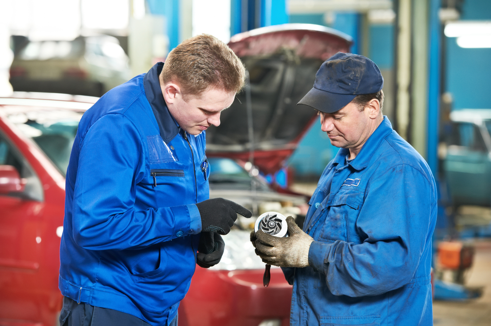Person Checking before Buying a Used Ford Part