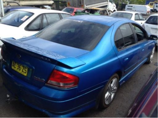 Wrecking 2003 Ford Ba Falcon Xr6 Turbo With Spoiler Ba